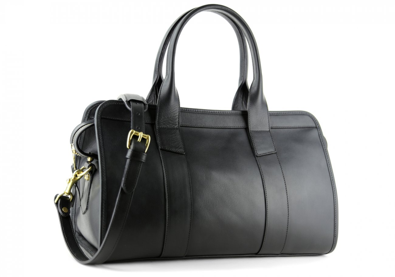 Black Leather Signature Satchel Frank Clegg Made In Usa 2