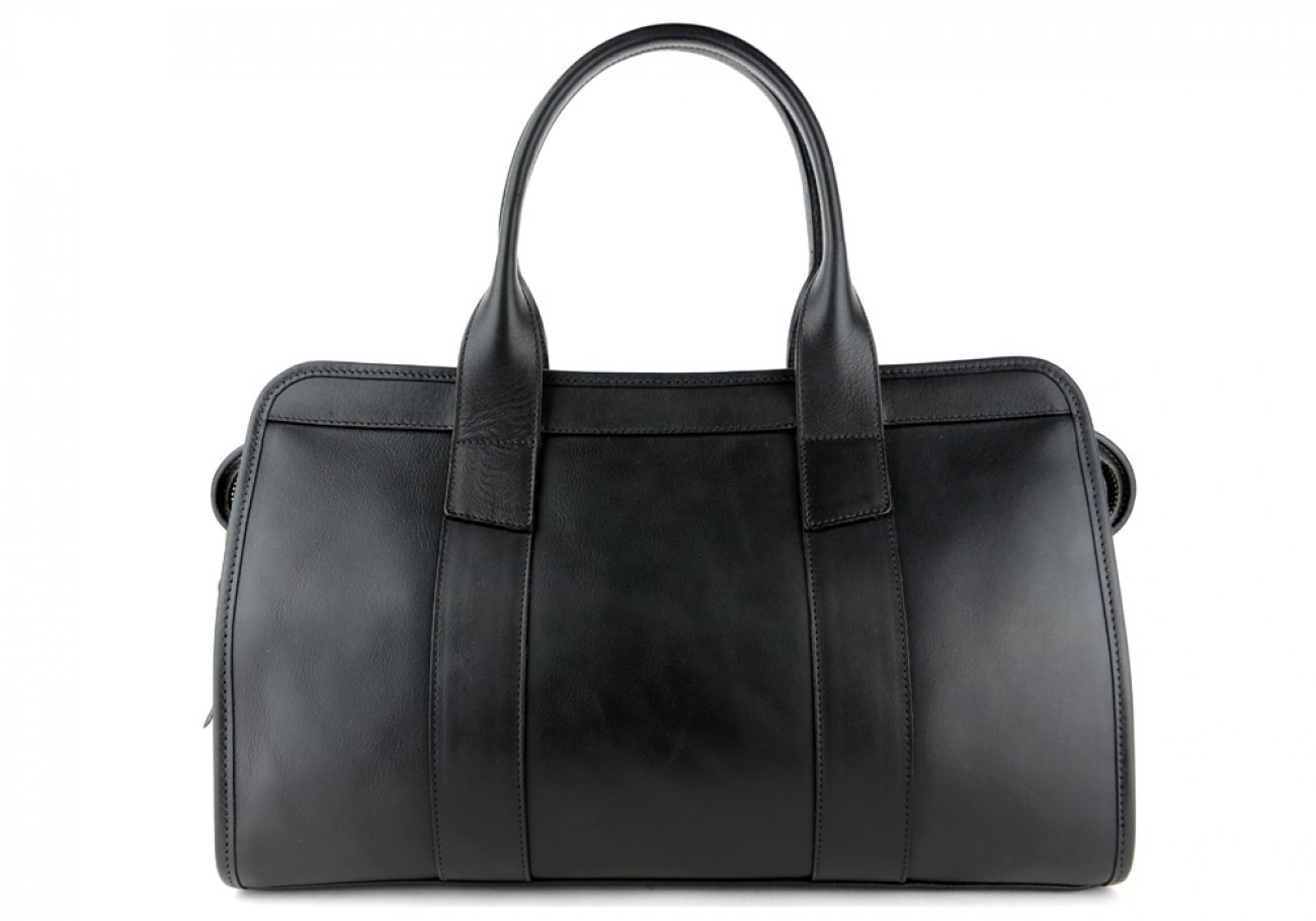 Black Leather Signature Satchel Frank Clegg Made In Usa 3