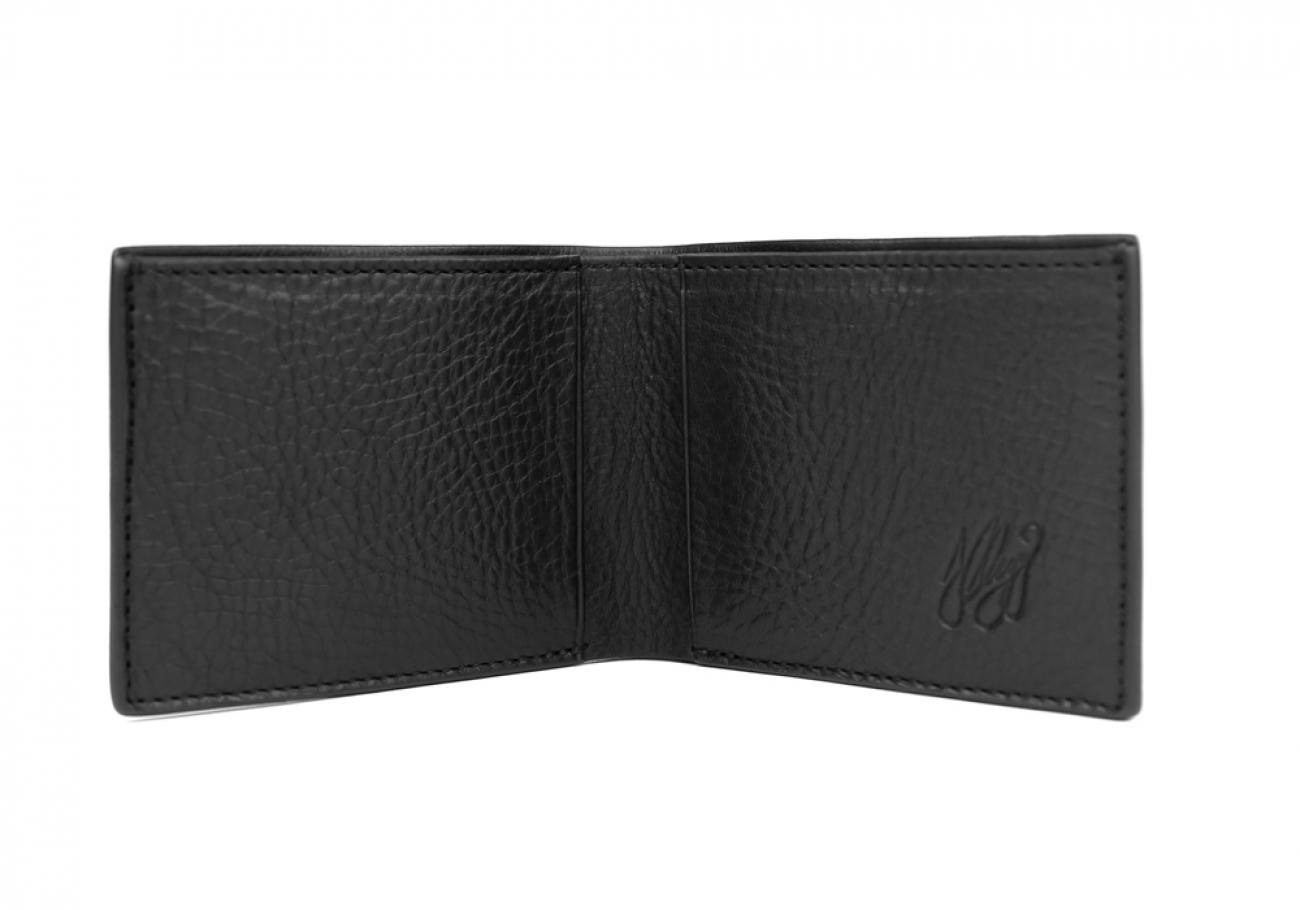 Black Leather Slim Wallet  Frank Clegg Made In Usa 2