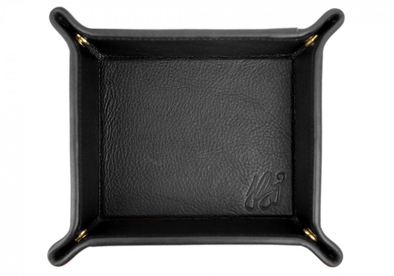 Black Leather Valet Key Tray Frank Clegg Made In Usa 1