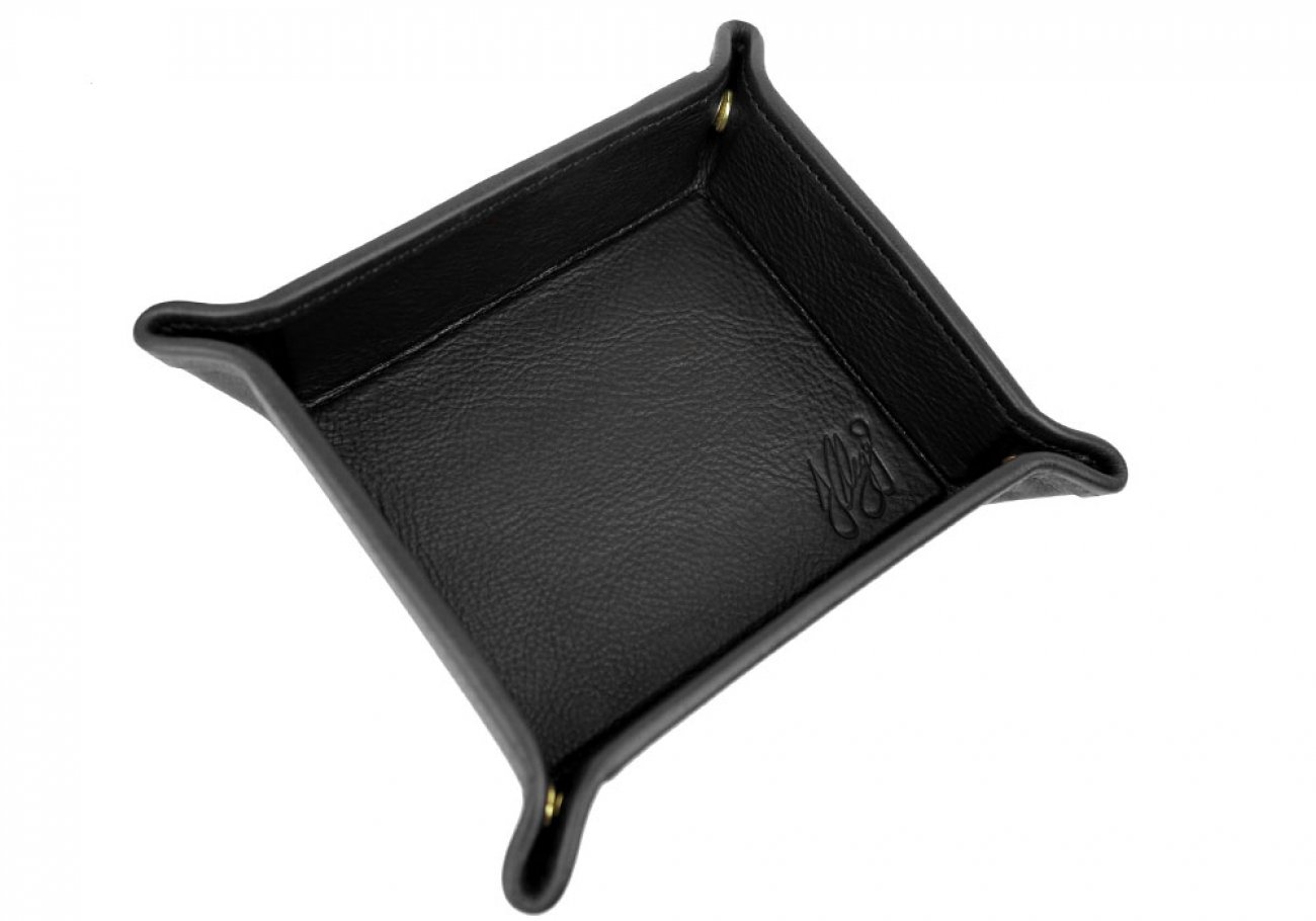 Black Leather Valet Key Tray Frank Clegg Made In Usa 2
