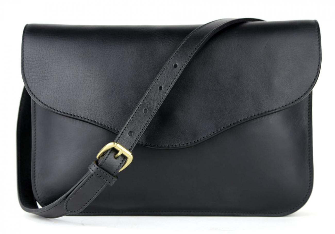 Black Maddie Shoulder Bag Frank Clegg Made In Usa 1
