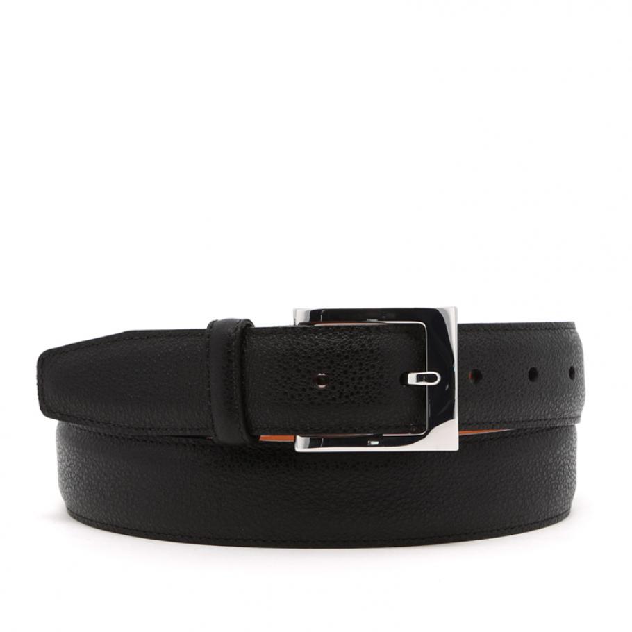 Black Sea Urchin Leather Belt
