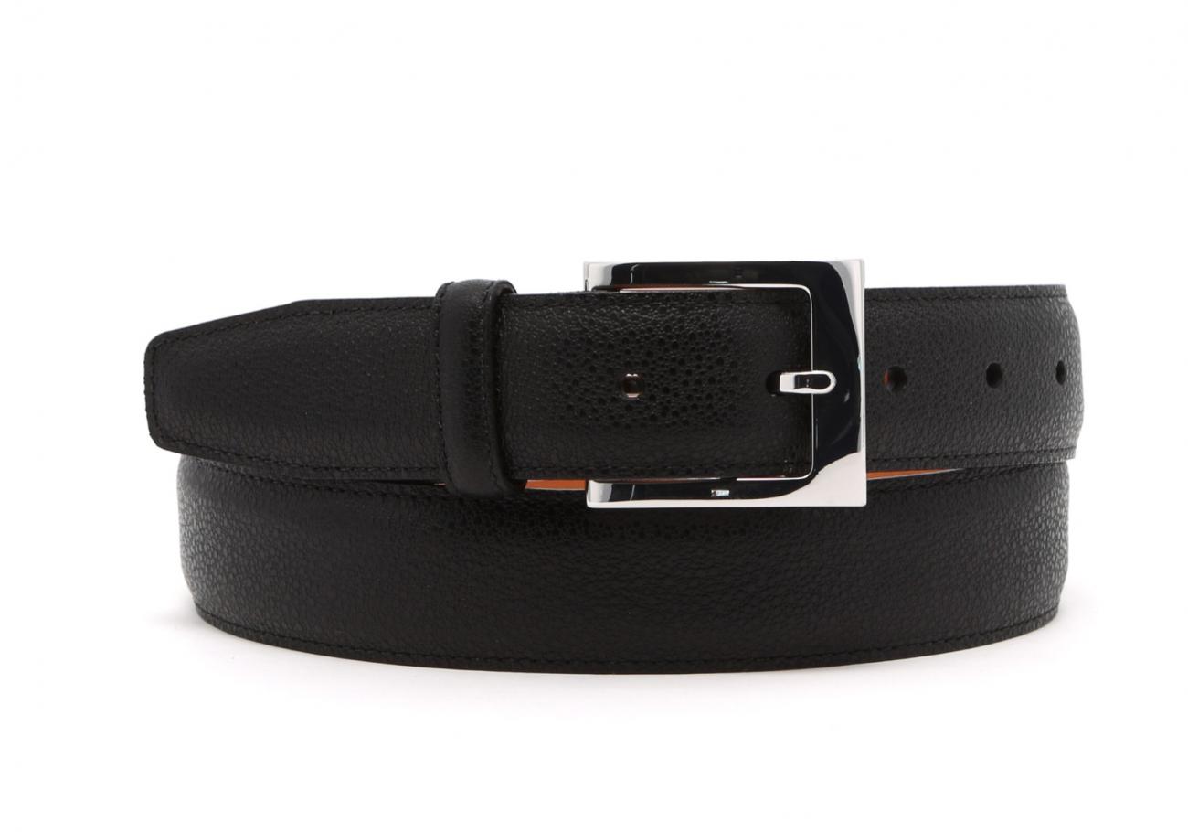 Black Sea Urchin Leather Belt1
