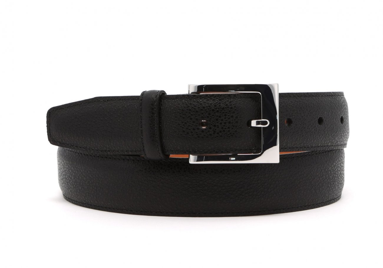 Black Sea Urchin Leather Belt1 3