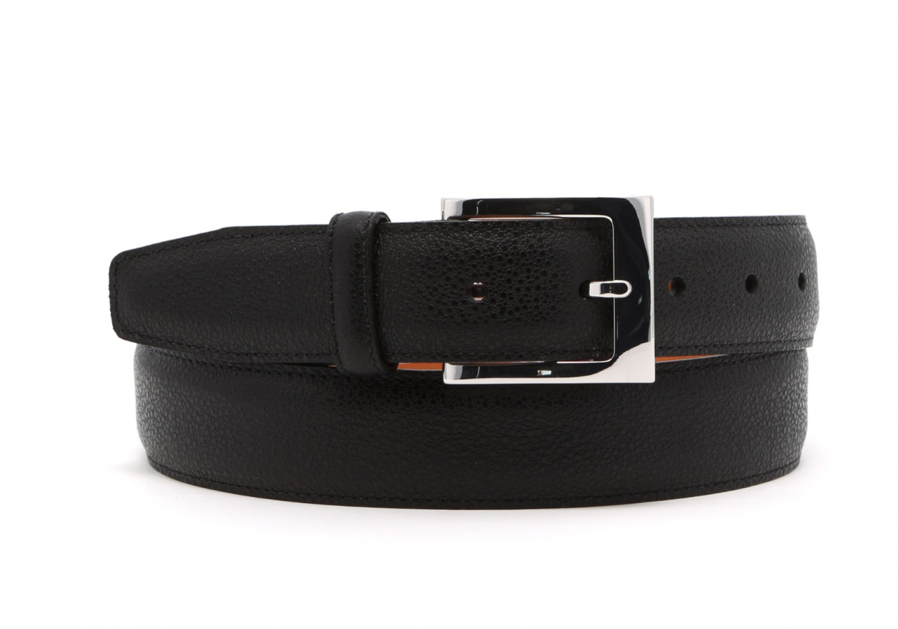 Black Sea Urchin Leather Belt1 4