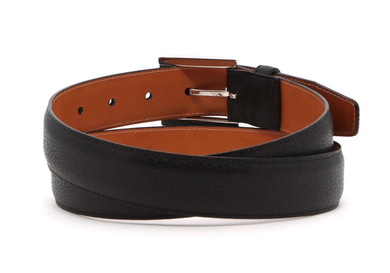 Black Sea Urchin Leather Belt4 2