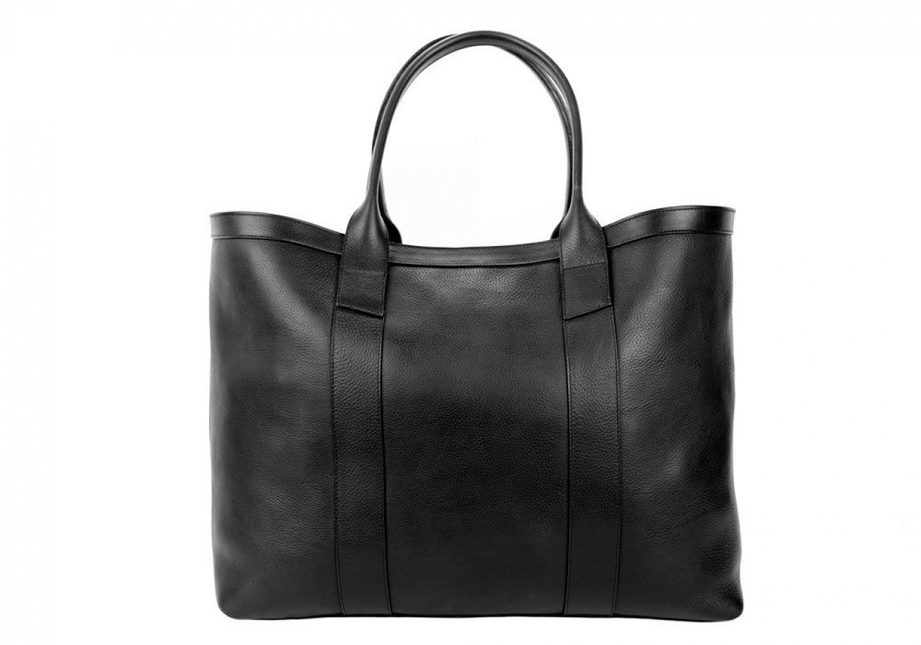 Black Signature Working Tote Made In Usa Frank Clegg 1 2