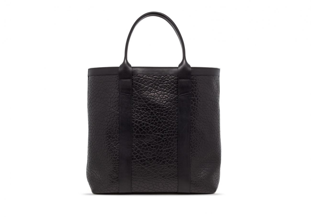 Black Tall Leather Tote Bag Shrunken1 1