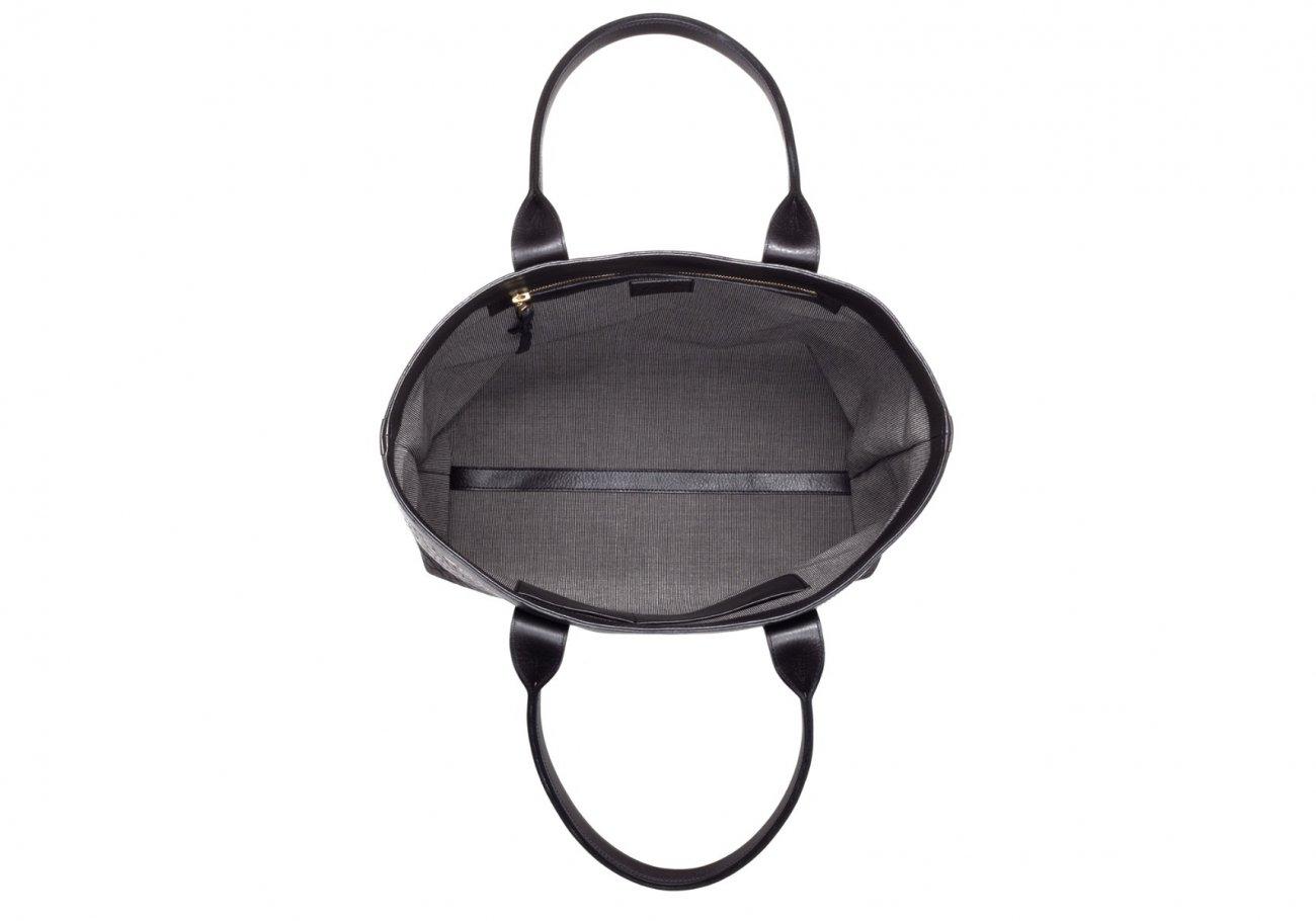 Black Tall Leather Tote Bag Shrunken2 1
