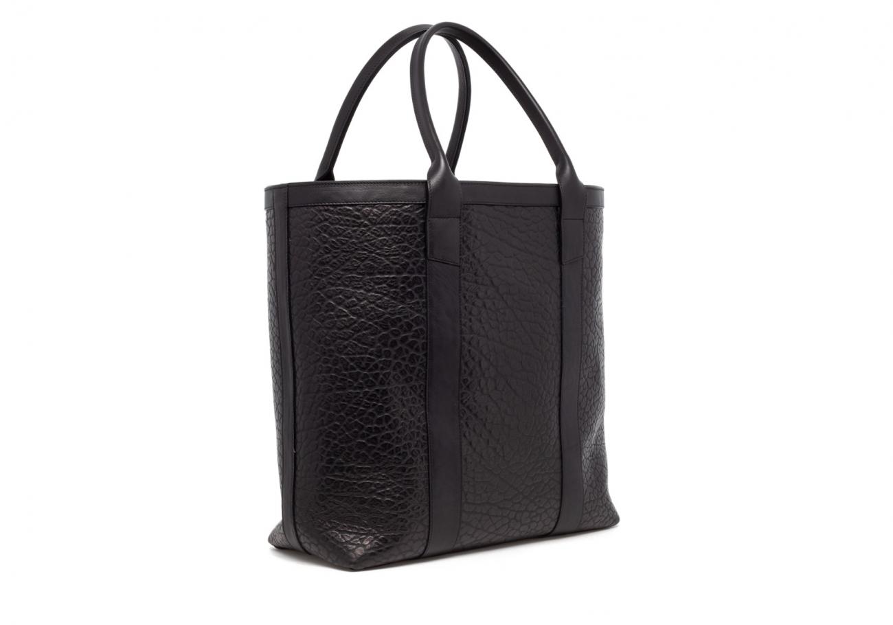 Black Tall Leather Tote Bag Shrunken3 1
