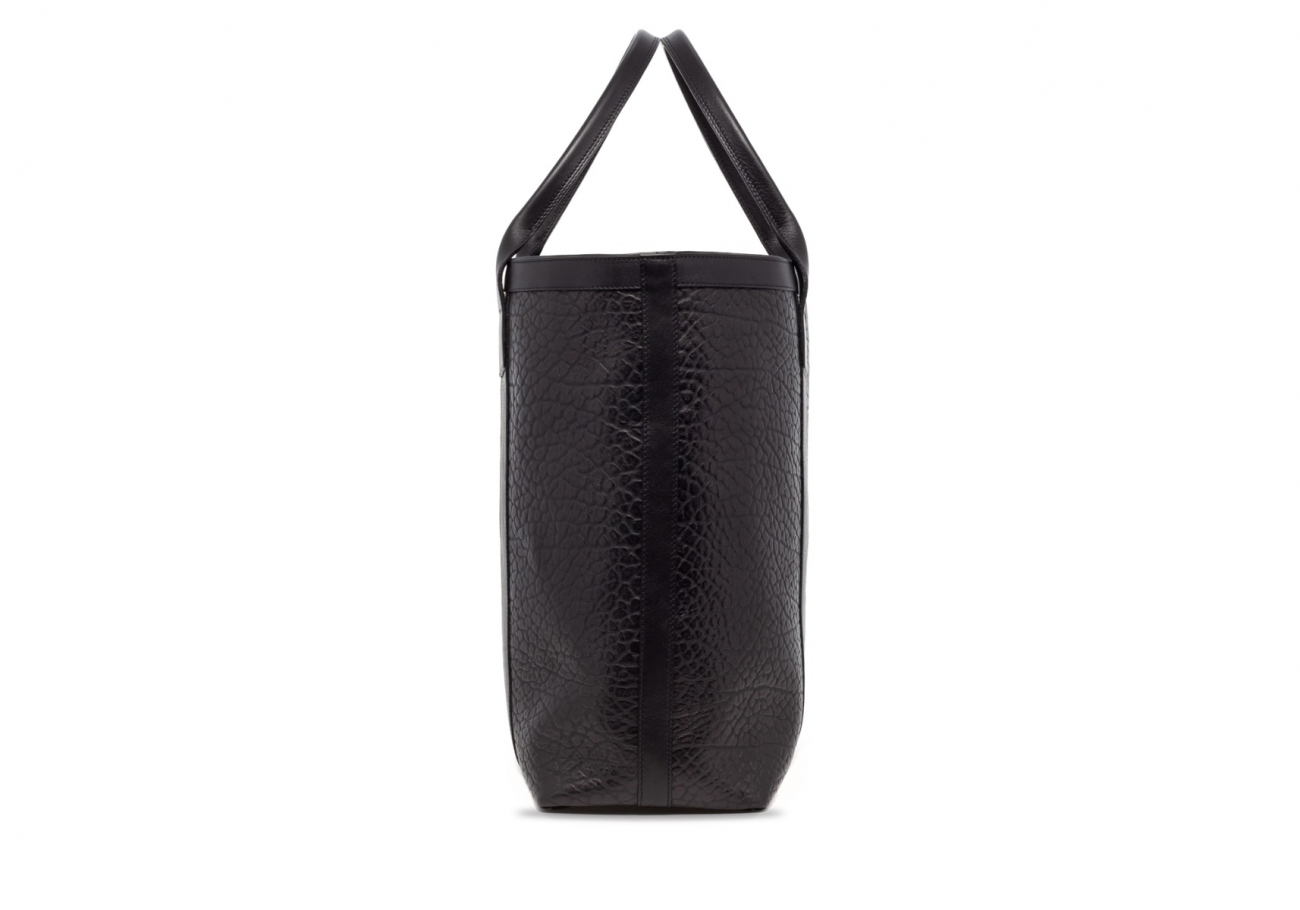 Black Tall Leather Tote Bag Shrunken4 1