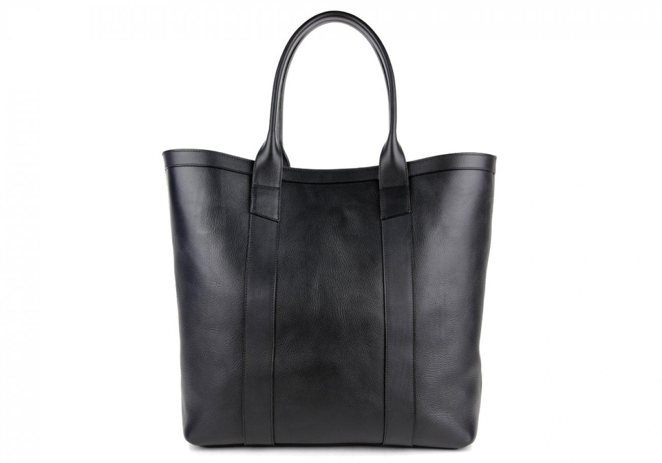 Black Tall Medium Tote Made In Usa Frank Clegg 1