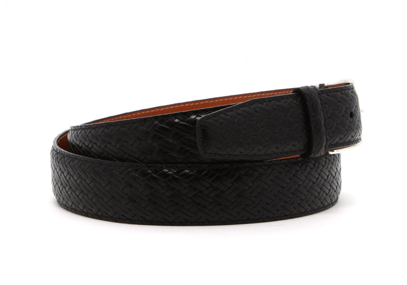 Black Trezlis Basket Leather Belt3 1 1