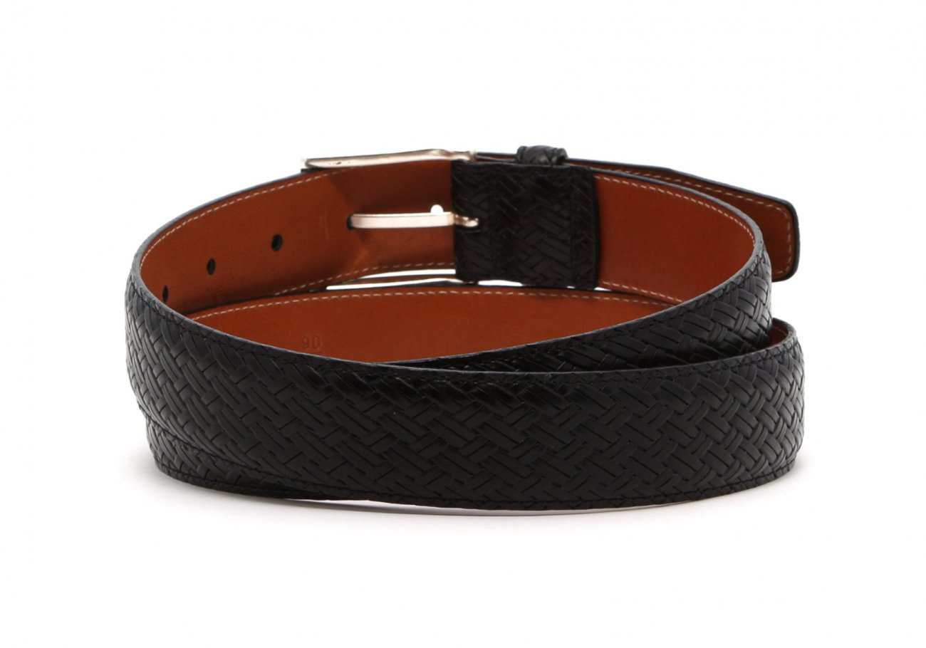Black Trezlis Basket Leather Belt4 1 1
