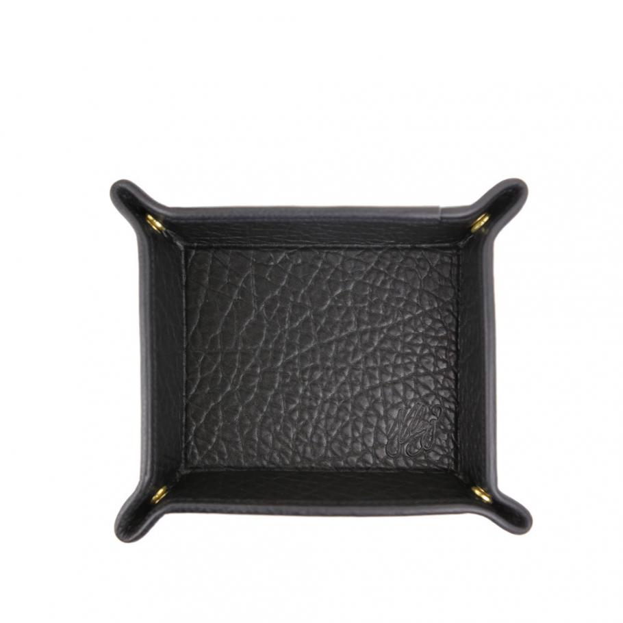 Blackshrunken  Leather Valet Key Tray Frank Clegg Made In Usa 1 Raw 2