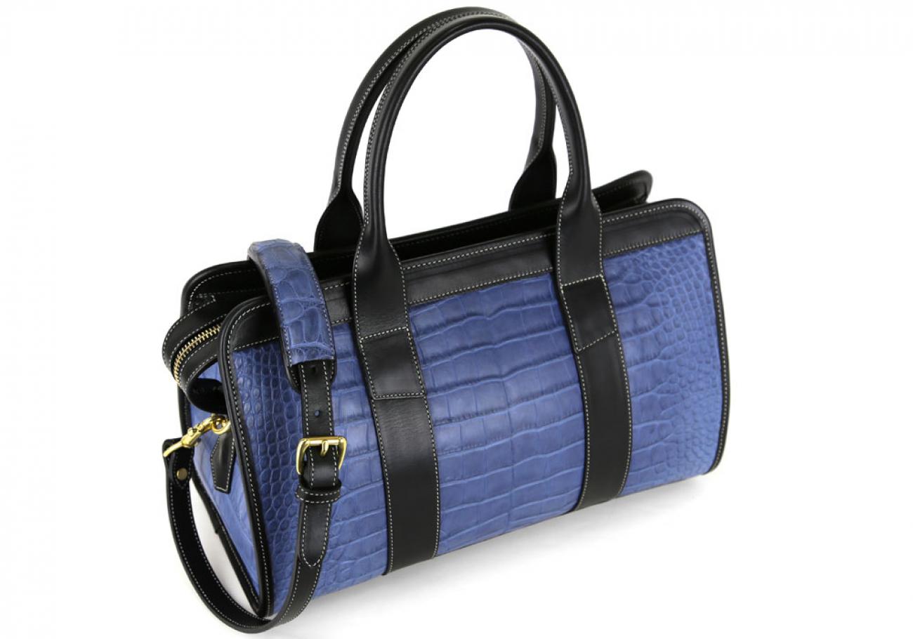 Blue Alligator Satchel Frank Clegg Made In Usa 6