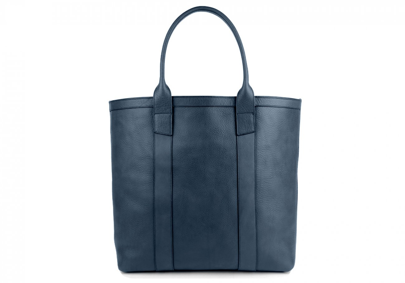 Blue Tall Medium Tote Made In Usa Frank Clegg 1 2