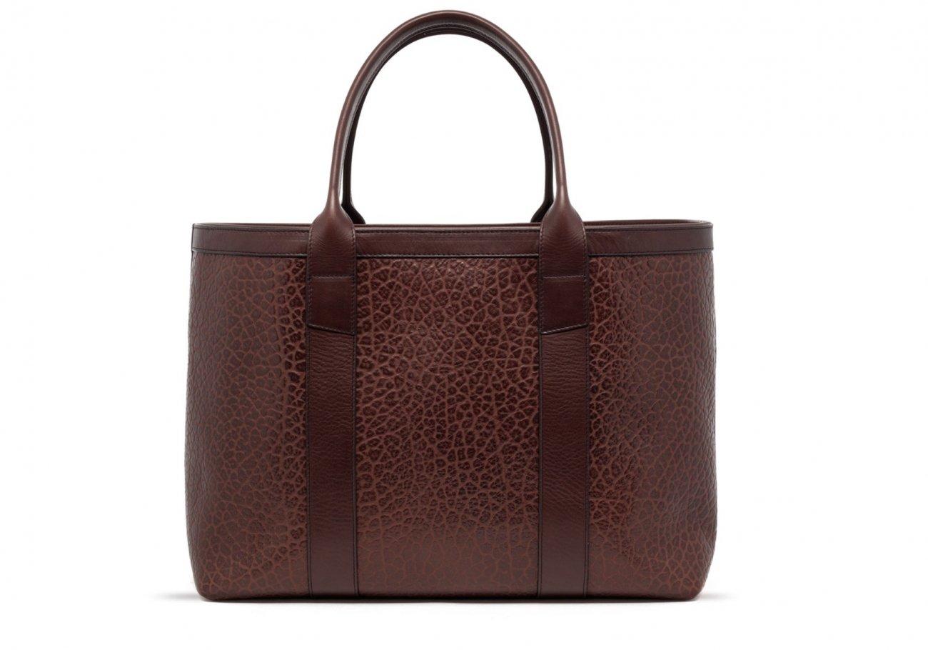 Brown Leather Working Tote Bag Shrunken 20