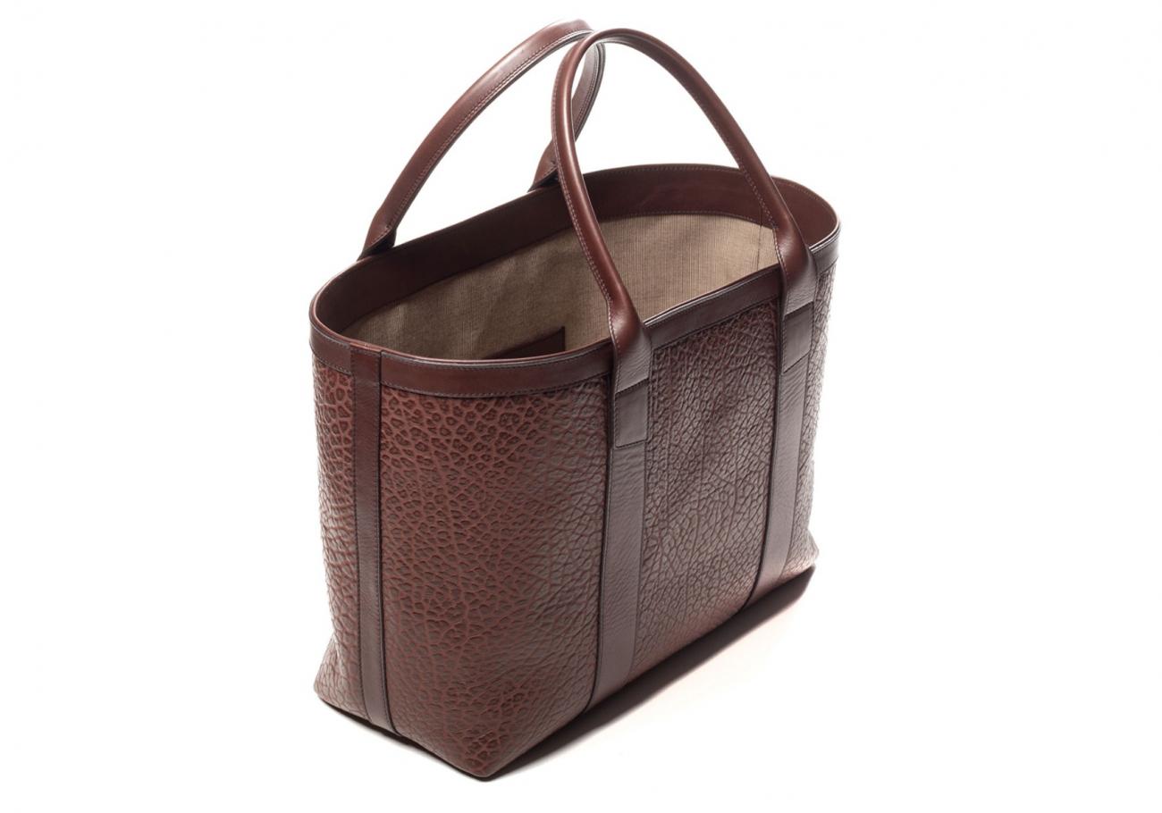 Brown Leather Working Tote Bag Shrunken 23