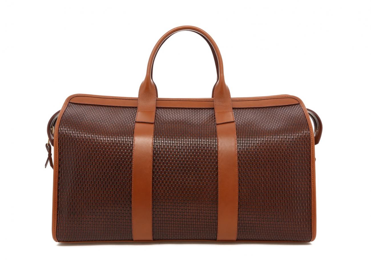 Brown Basket Weave Sig Duffle B