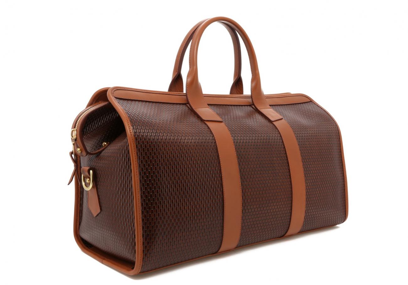 Brown Basket Weave Sig Duffle C