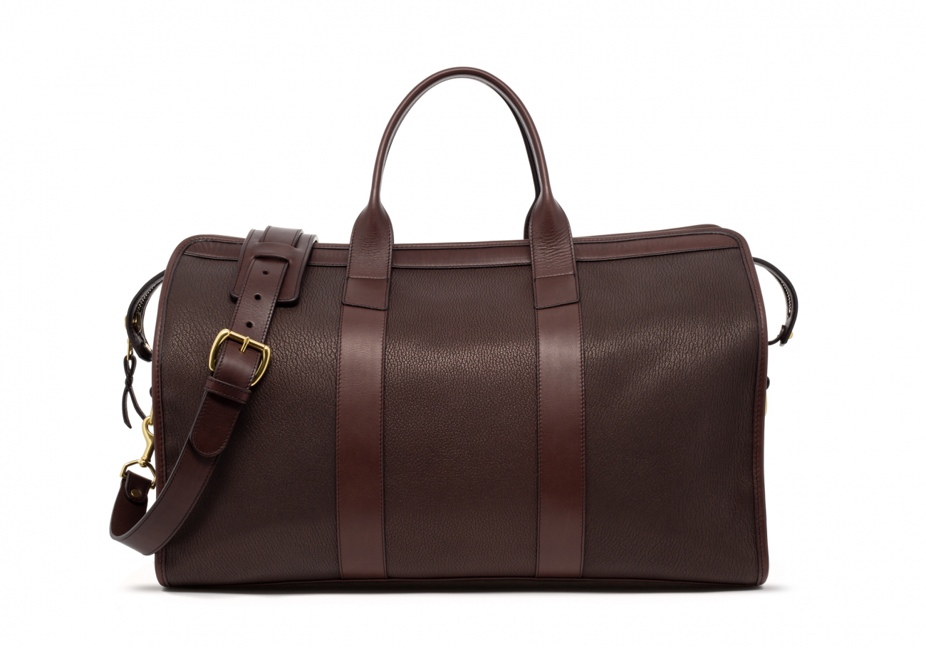 Brown Che Vre Goatskin Duffle Bag3