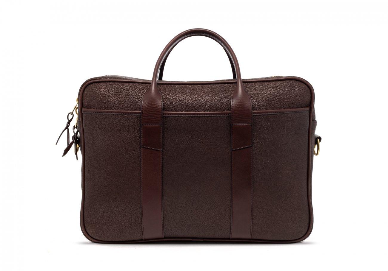 Brown Che Vre Goatskin Zipper Briefcase1
