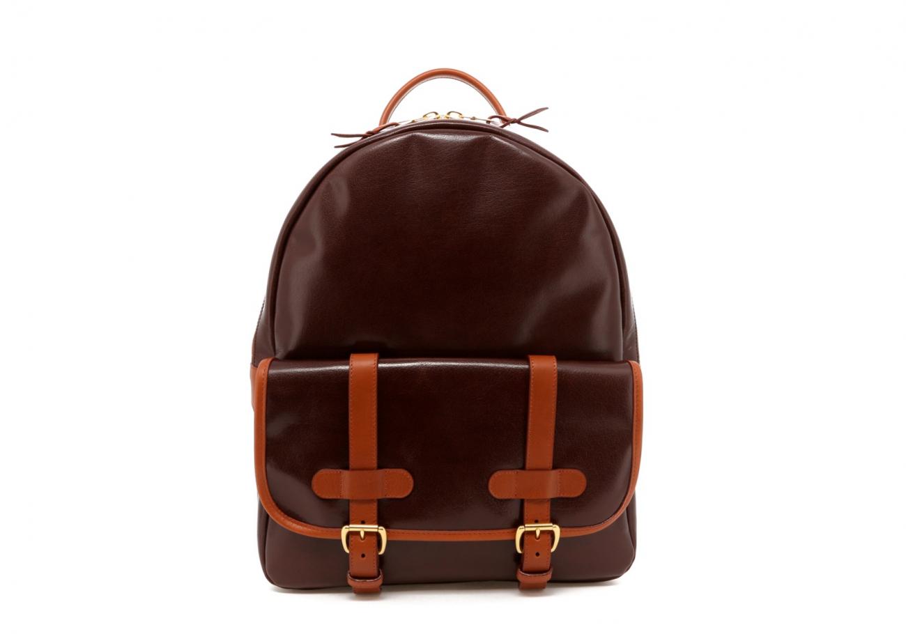 Brown Goatskin Hampton Backpack B