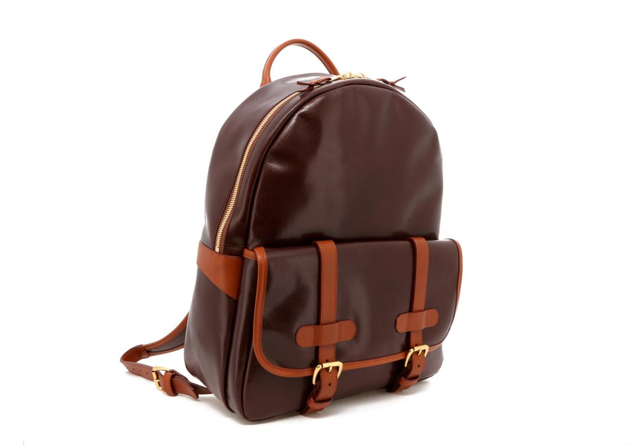 Brown Goatskin Hampton Backpack C