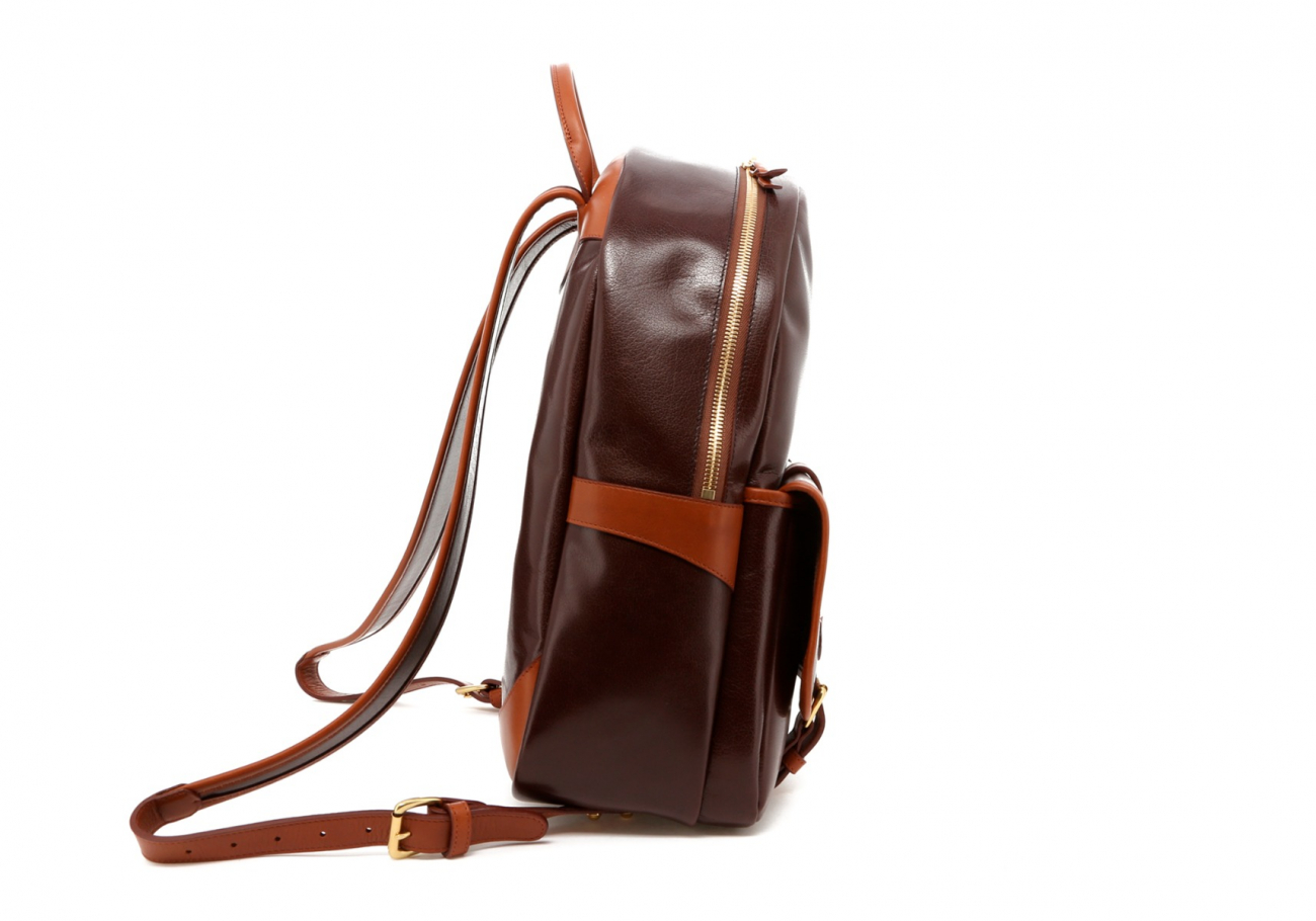Brown Goatskin Hampton Backpack D