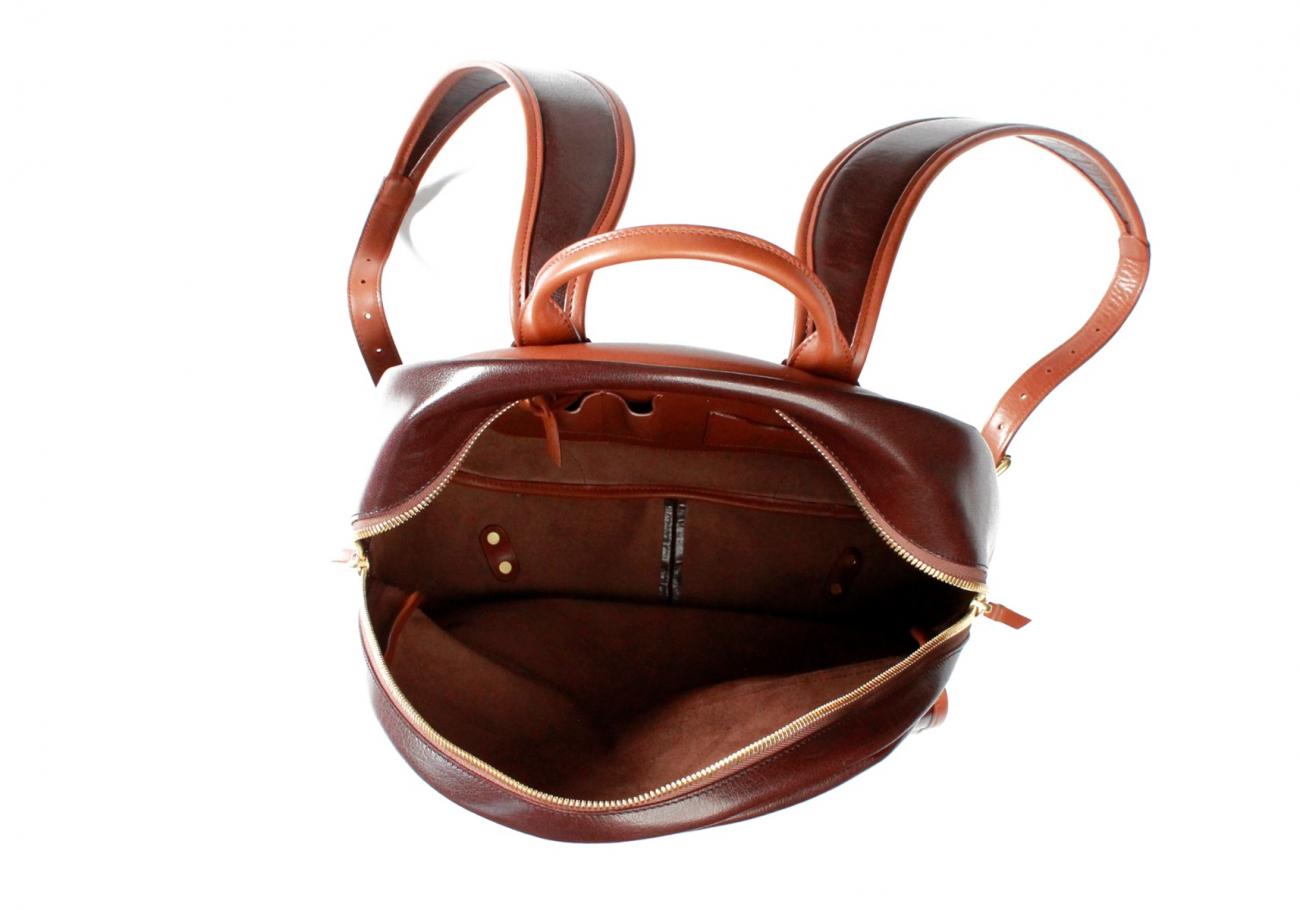 Brown Goatskin Hampton Backpack F