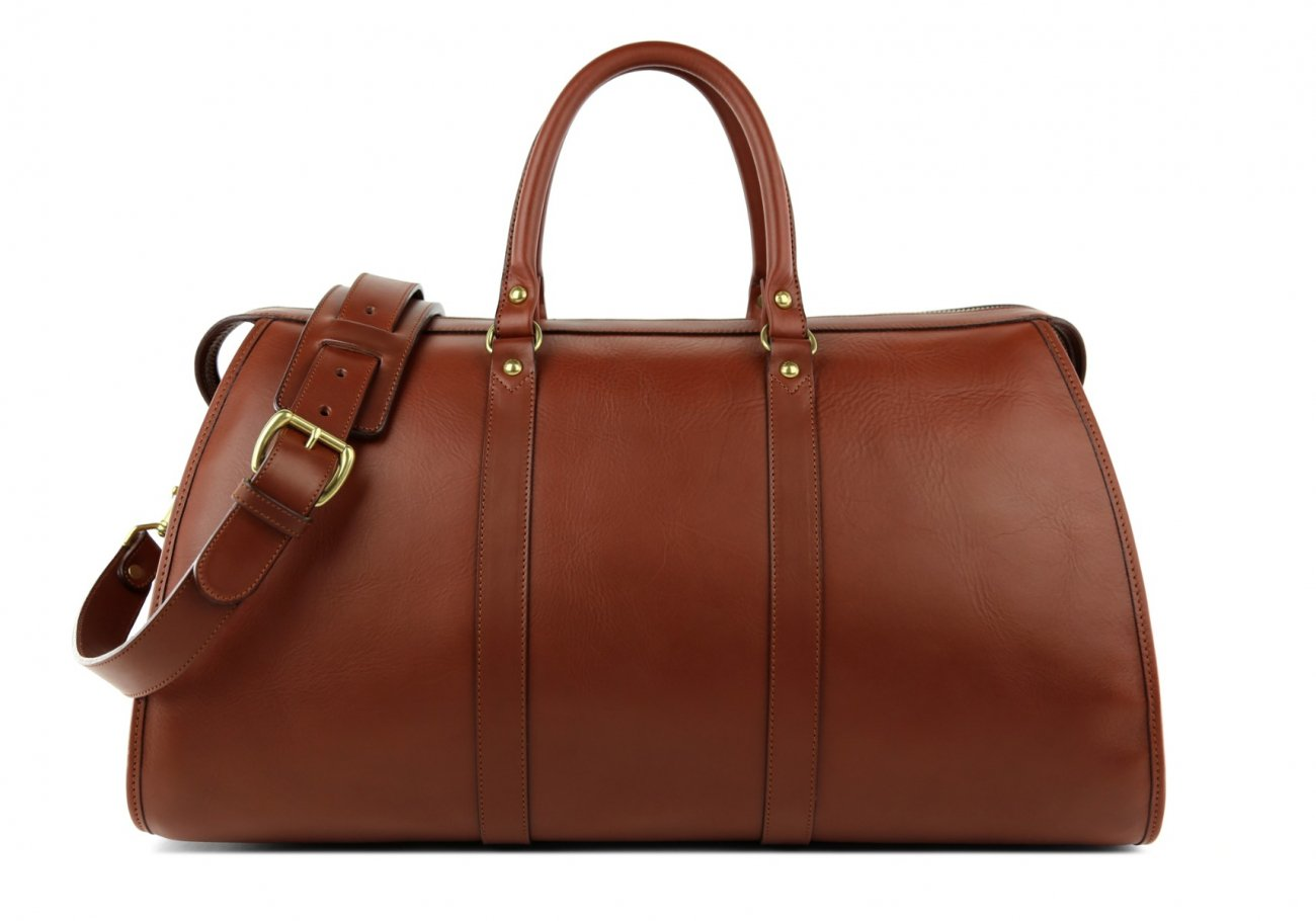 Brown Leather Duffle Bag Hampton Frank Clegg 1