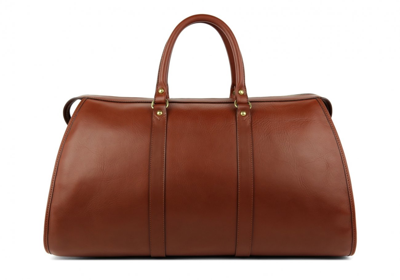Brown Leather Duffle Bag Hampton Frank Clegg 2