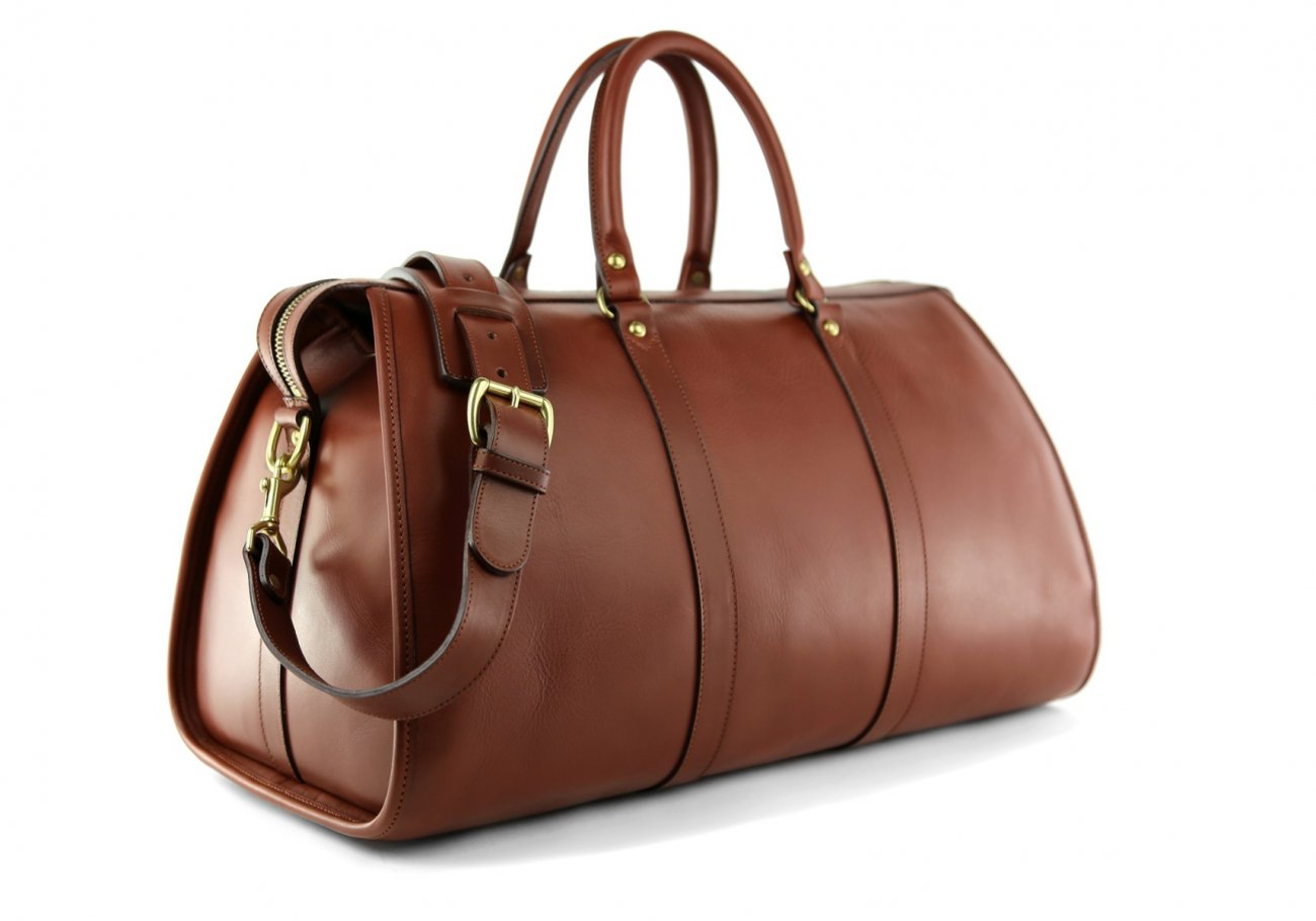 Brown Leather Duffle Bag Hampton Frank Clegg 3