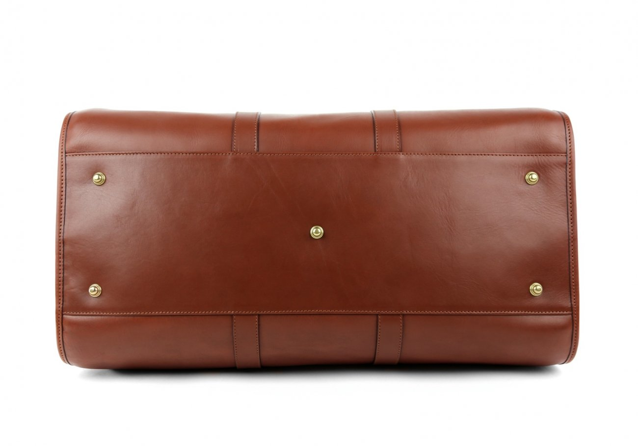 Brown Leather Duffle Bag Hampton Frank Clegg 6