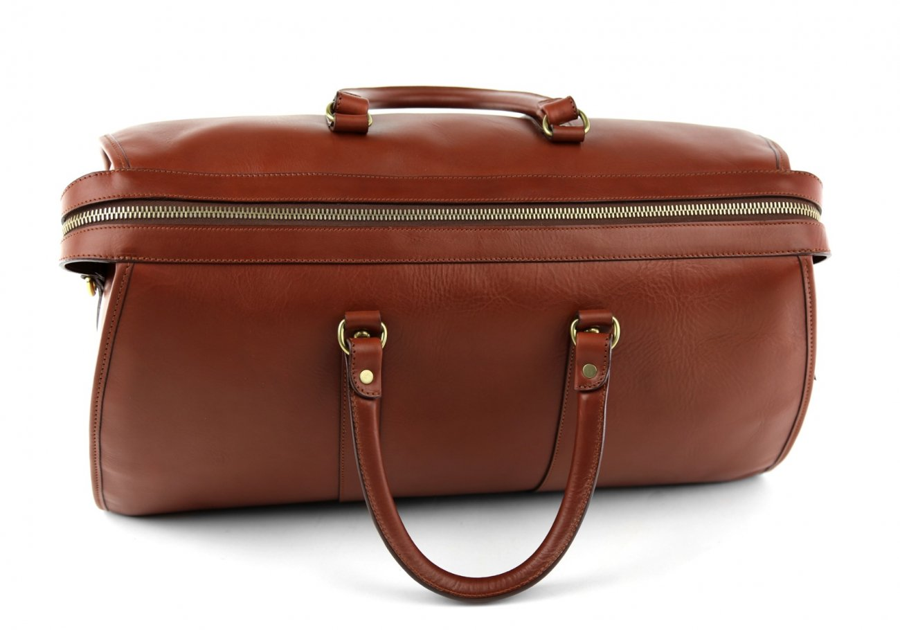 Brown Leather Duffle Bag Hampton Frank Clegg 7