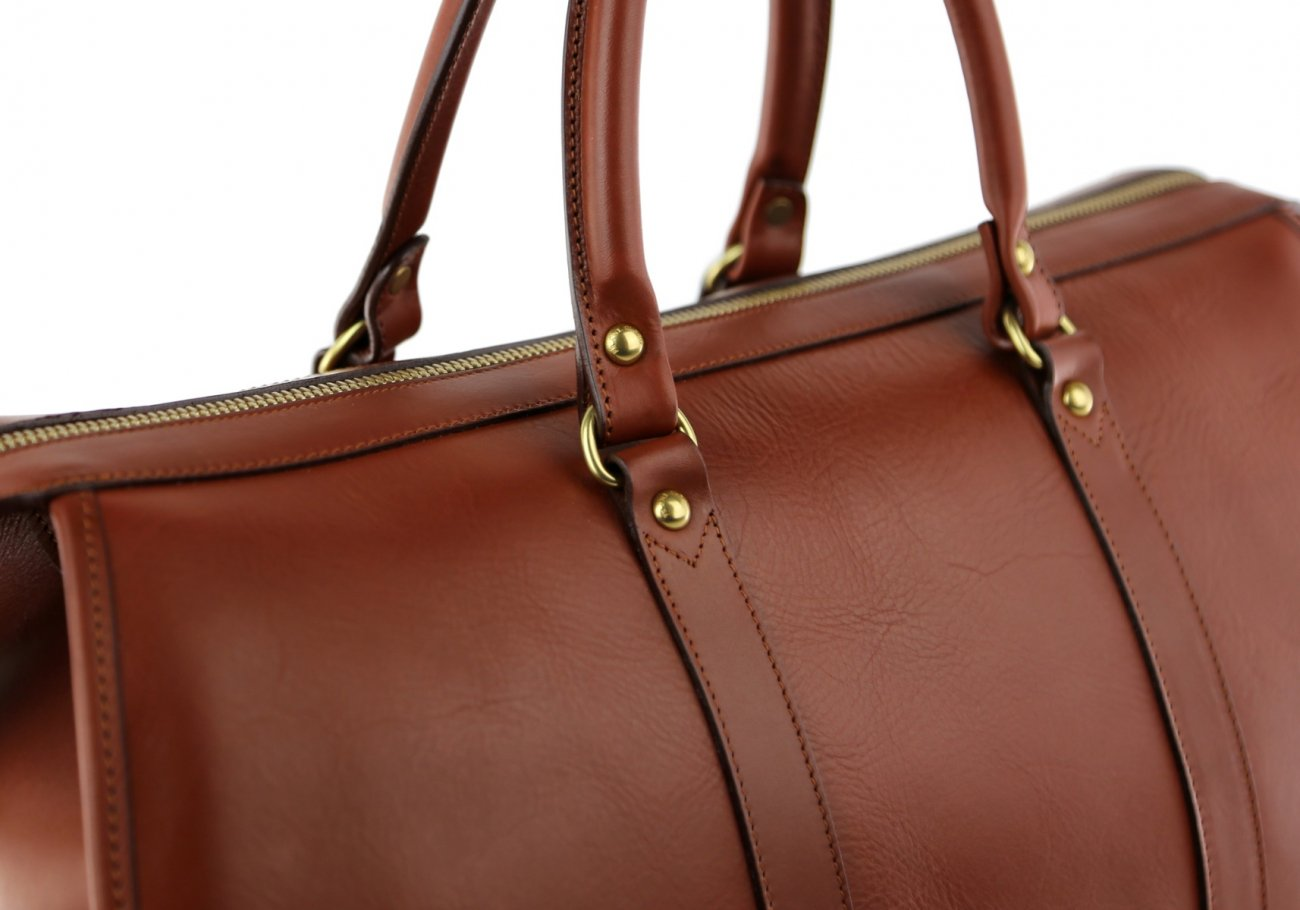 Brown Leather Duffle Bag Hampton Frank Clegg 9