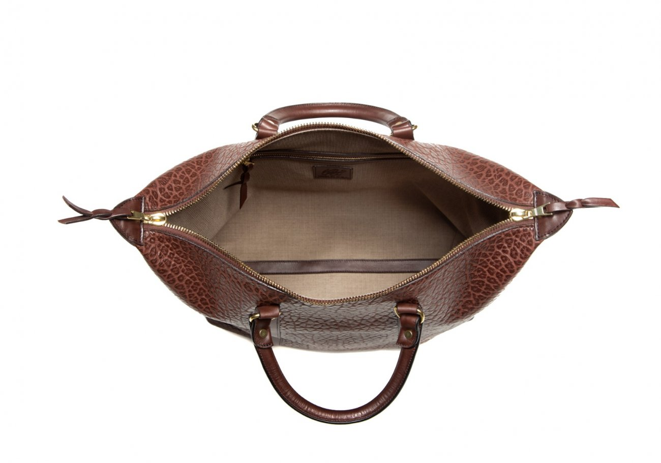 Brown Leather Zipper Tote Bag Shrunken2 1