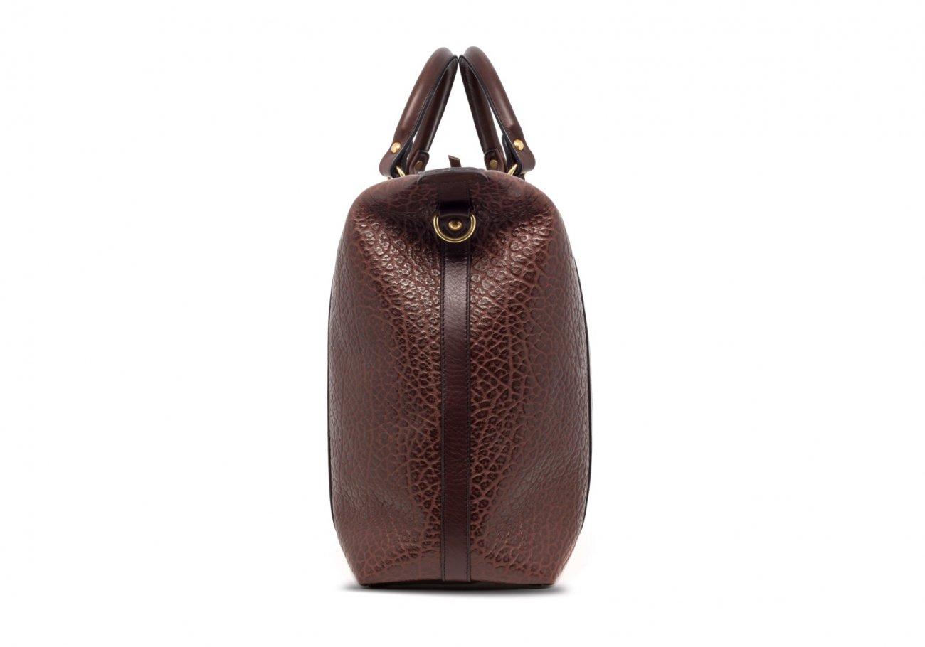 Brown Leather Zipper Tote Bag Shrunken6 1