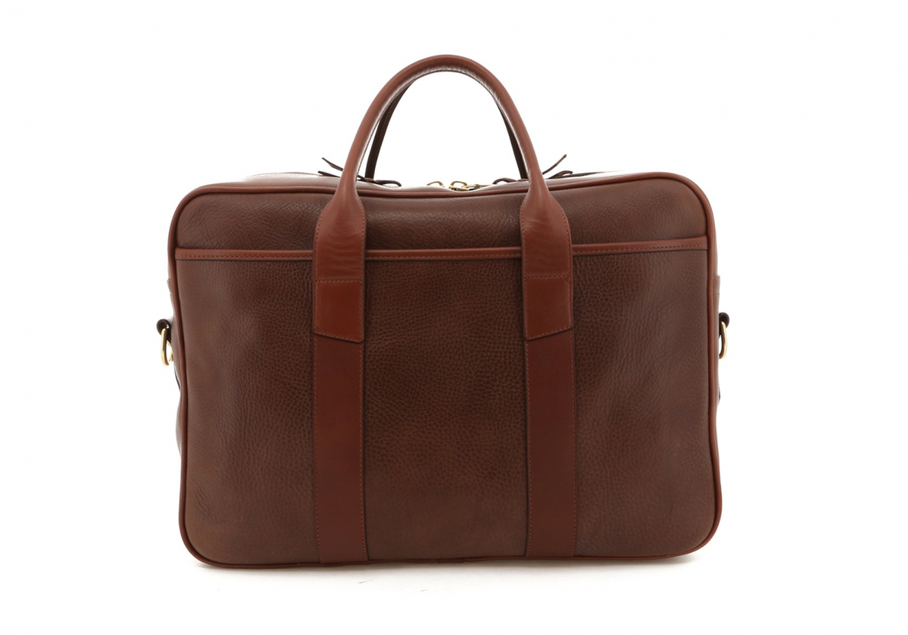 Brown Pull Up Leather Commuter Brief B