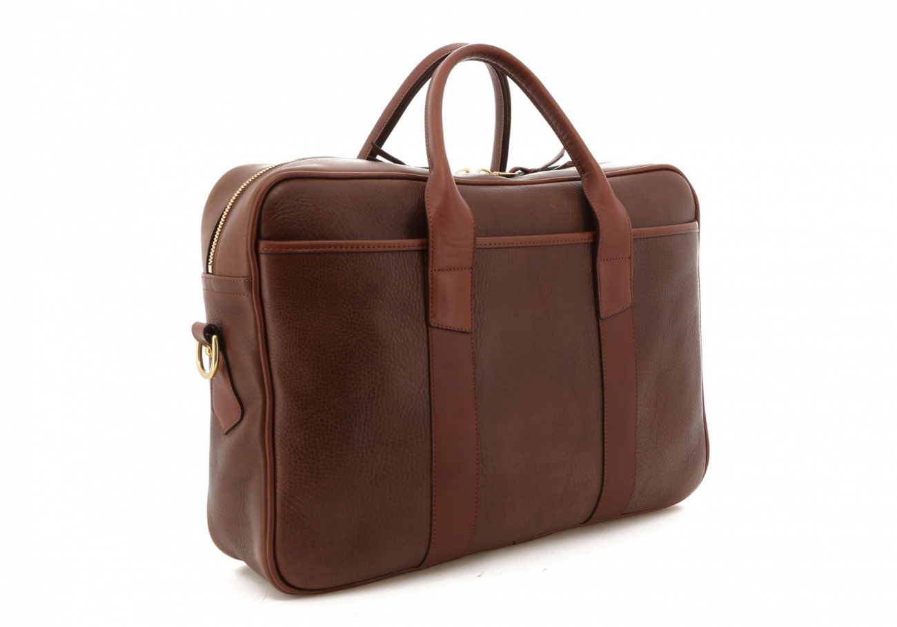 Brown Pull Up Leather Commuter Brief C