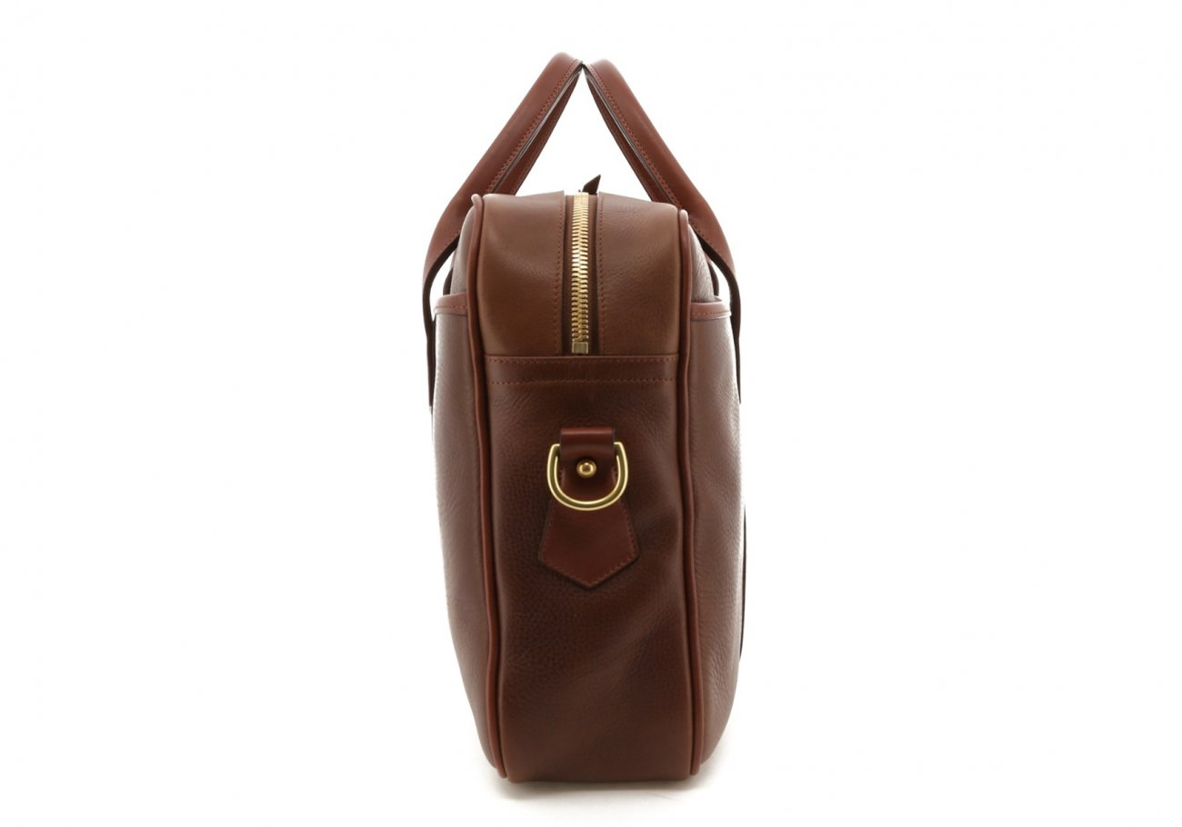Brown Pull Up Leather Commuter Brief D