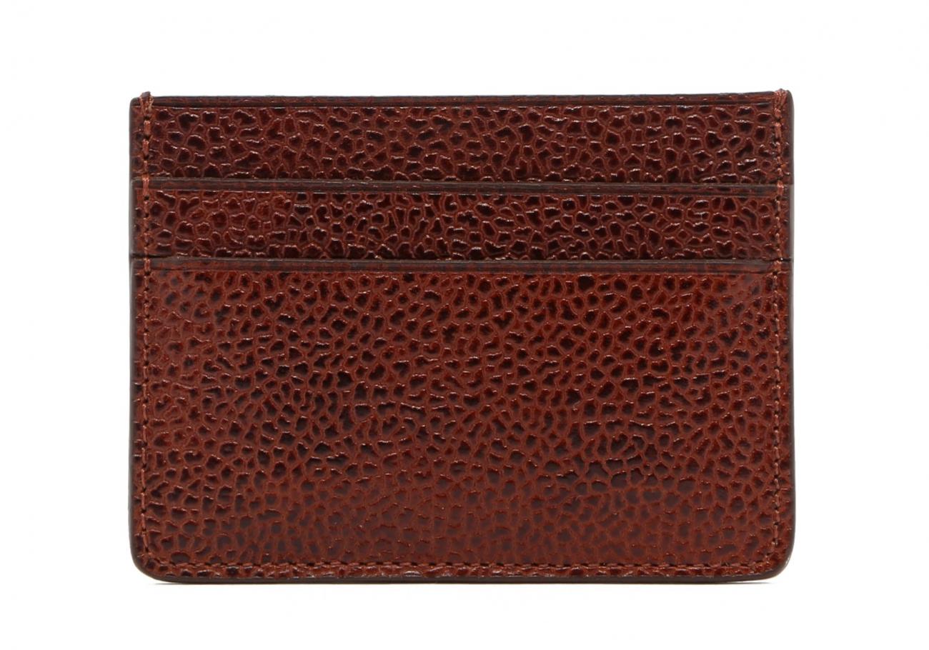 Brown Scotch Grain Double Card Wallet2