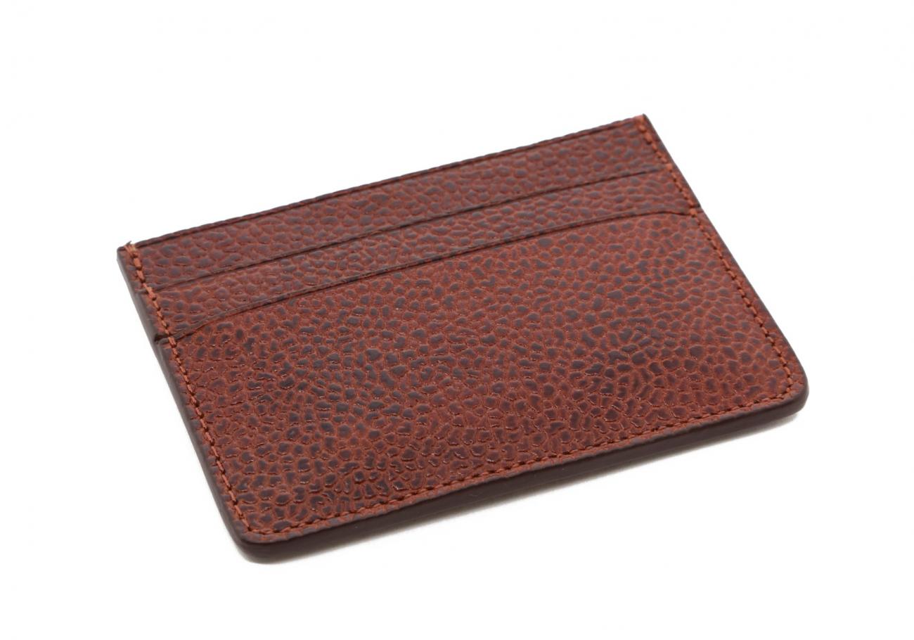 Brown Scotch Grain Double Card Wallet3