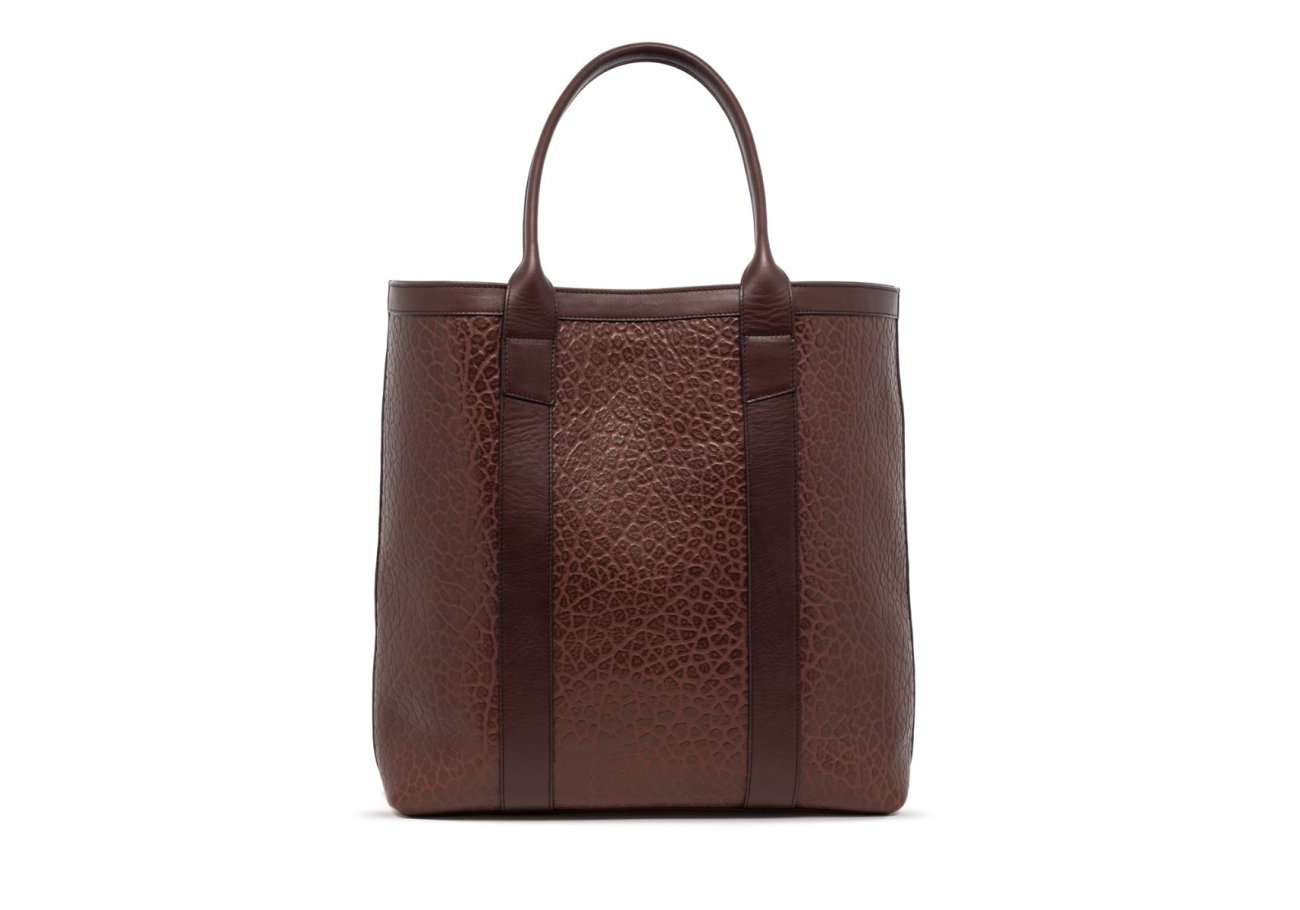 Brown Tall Leather Tote Bag Shrunken1 1