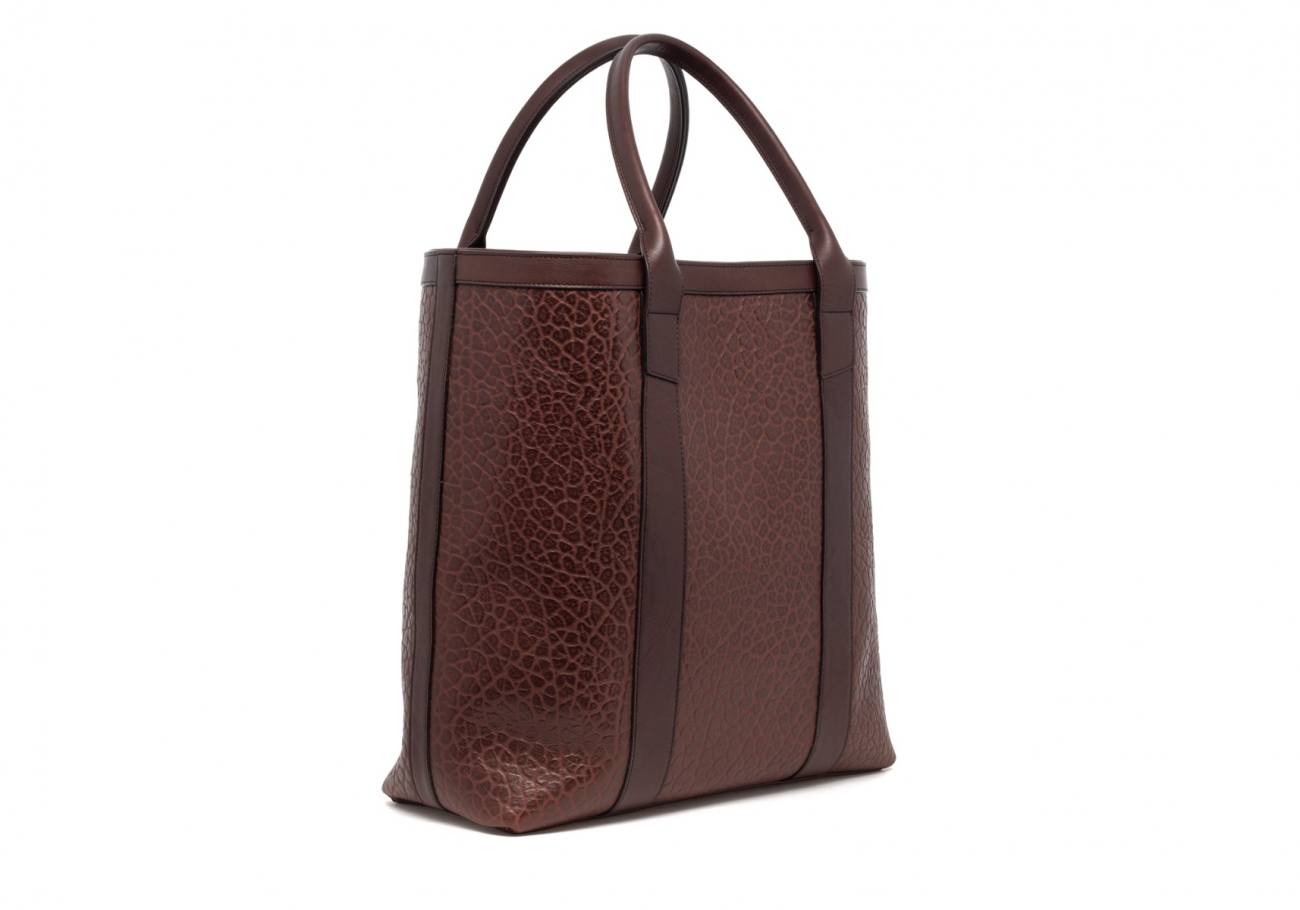 Brown Tall Leather Tote Bag Shrunken3 1