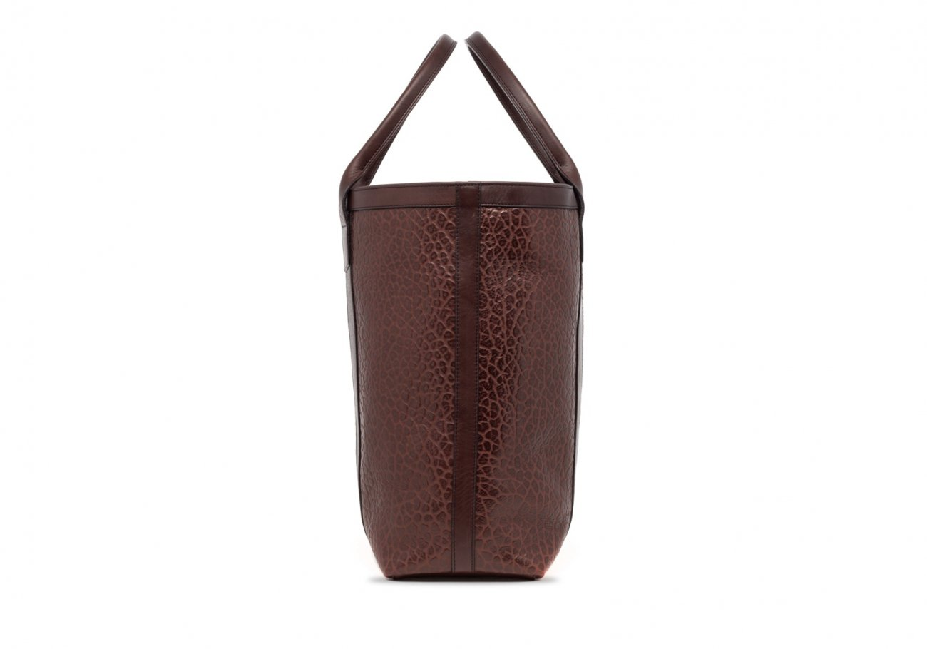 Brown Tall Leather Tote Bag Shrunken4 1