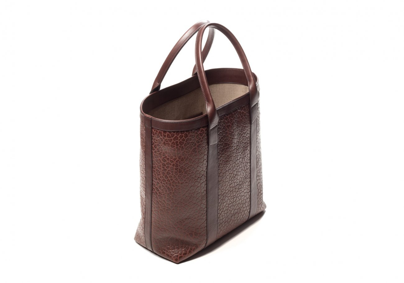 Brown Tall Leather Tote Bag Shrunken5 1