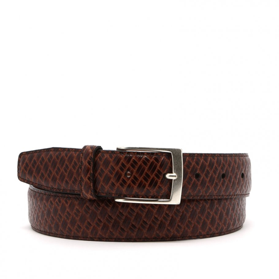 Brown Trezlis Basket Leather Belt